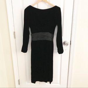 GiGi New York Black Velvet Dress Vintage Dress